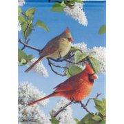 "Cardinal Duo Spring House Flag Large Seasonal Yard Banner 28"" x 40"""