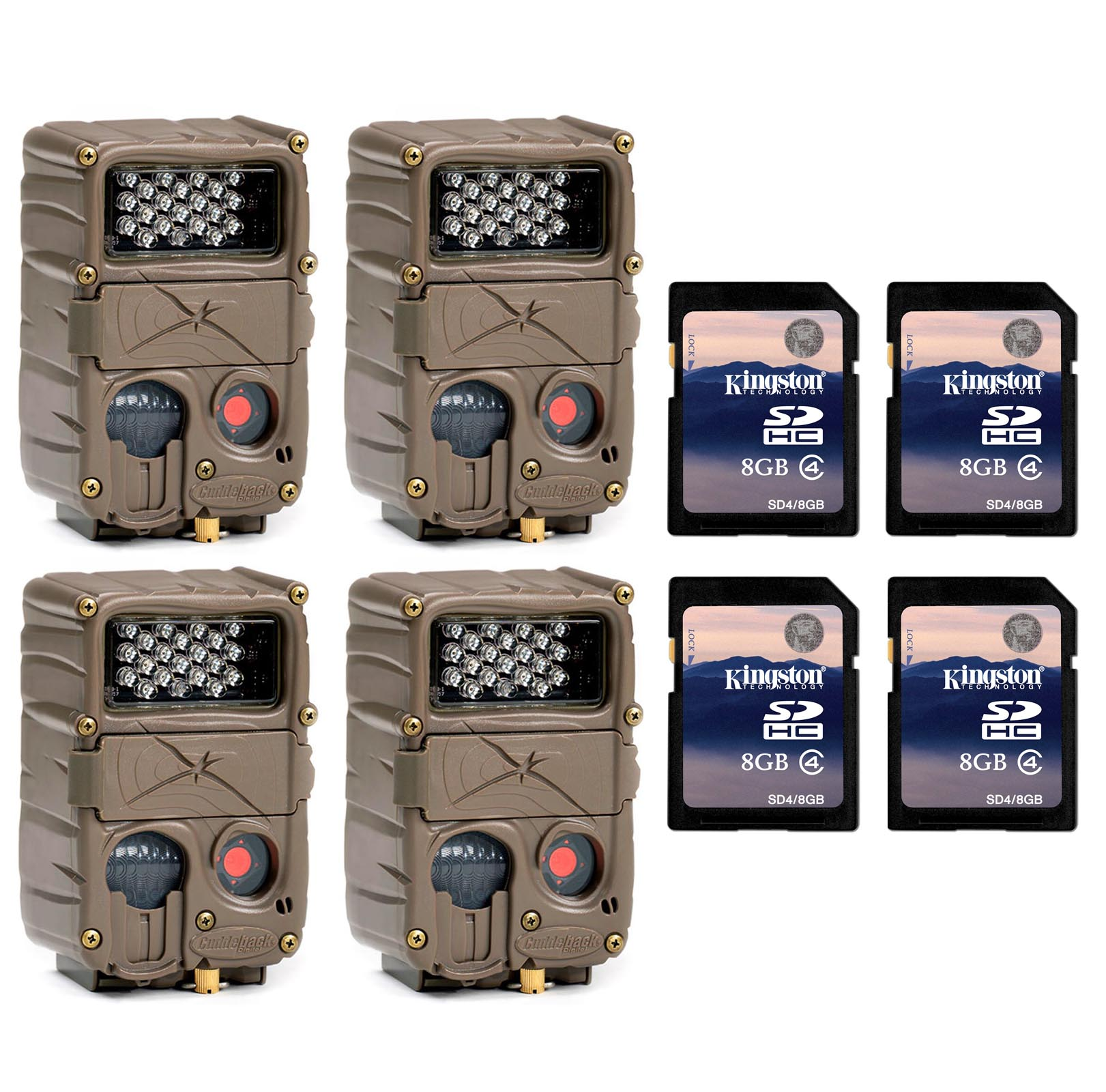 (4) CUDDEBACK E2 Long Range IR Infrared 20 MP Game Huntin...