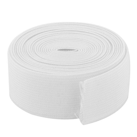 Polyester Springy Stretchy Knitting Sewing Elastic Band Strap White 2.73 Yards Elastic Rear Band