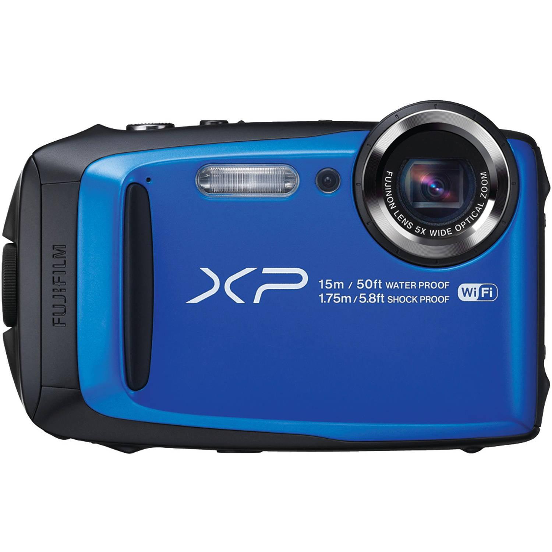 """Fuji XP90 16.4 Megapixel Compact Camera - Blue - 3"""" LCD -..."""