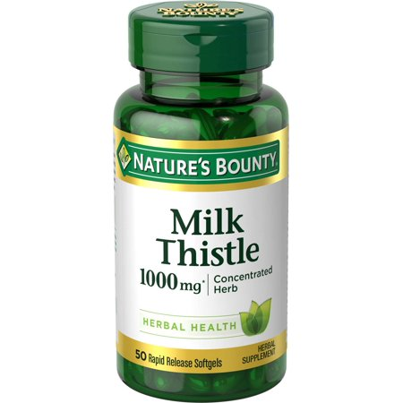 Nature's Bounty Milk Thistle 1000mg Softgels, 50 (Best Quality Milk Thistle)