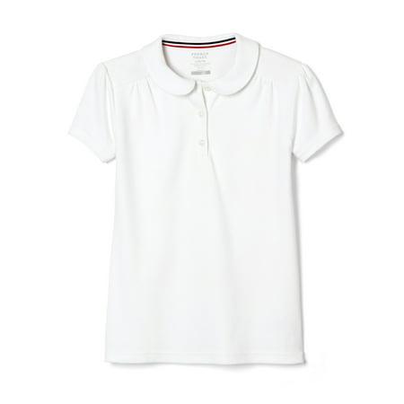 French Toast School Uniform Short Sleeve Peter Pan Collar Polo Shirt (Little Girls & Big