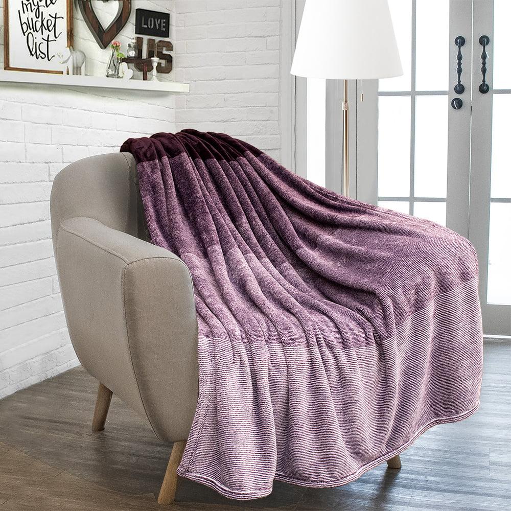 Pavilia Flannel Fleece Luxury Throw Blanket Lightweight