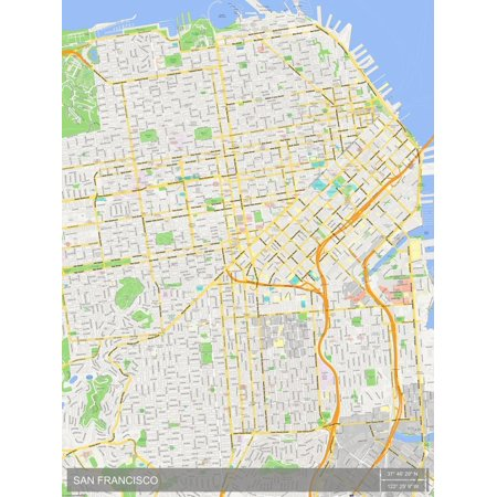 San Francisco, United States of America Map Poster Wall