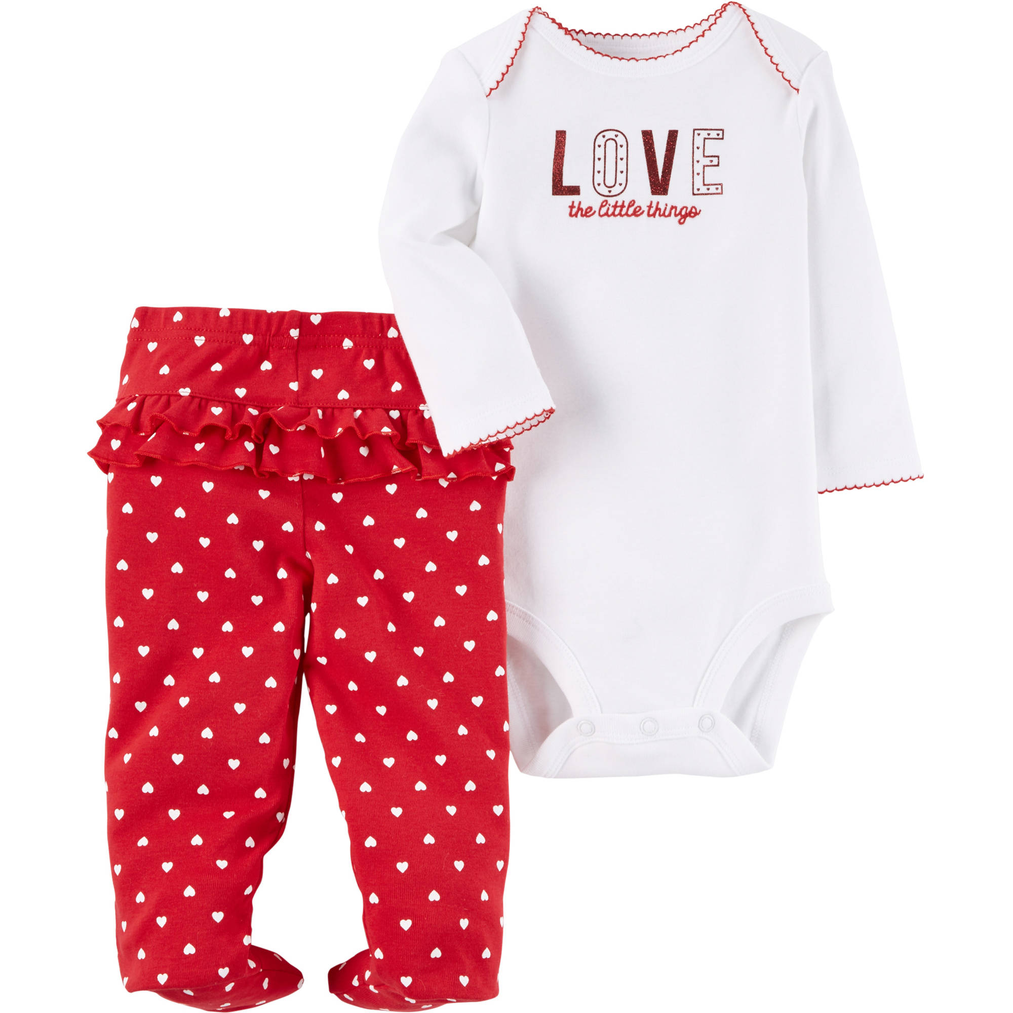 62ce3c570 Child of Mine by Carter s - Com Valentines Bodysuit Set Girl ...