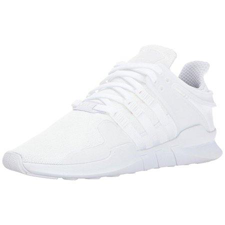 Adidas Originals Mens Eqt Support Adv  White White Black  9 5 Medium Us
