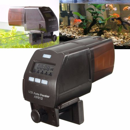 - Aquarium Automatic Feeder, Focuspet Auto Fish Food Dispenser Electronic Timer Feeder for Fish Tank with LCD Display Five Times Accurate Daily Feeding Suitable for automaticfeeder Aquarium,