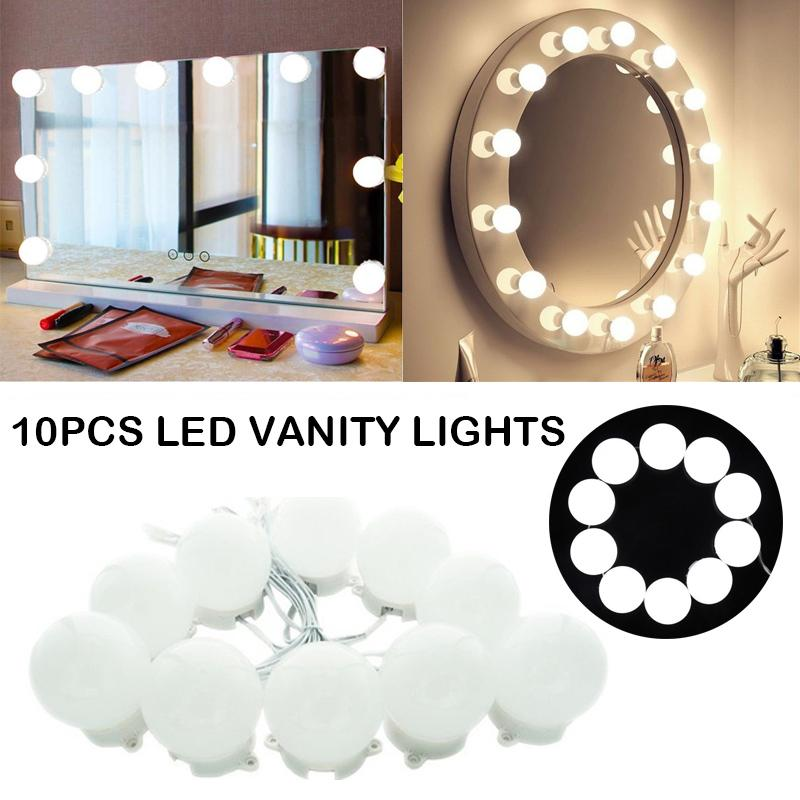 Lv. life 10 LEDs Makeup Mirror Light Kit LED Cosmetic Mirror Light with Dimmable Light Bulb