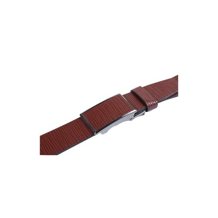 "Men No Ratchet Automatic Buckle Business Casual Belt Width 1 1/2"" Coffee 120CM - image 1 of 5"