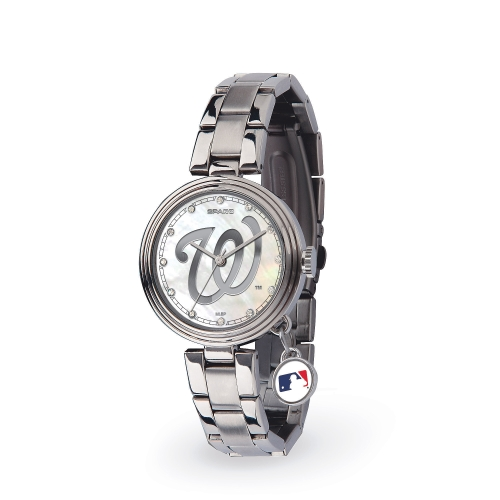 Washington Nationals Women's Charm Stainless Steel Watch - No Size