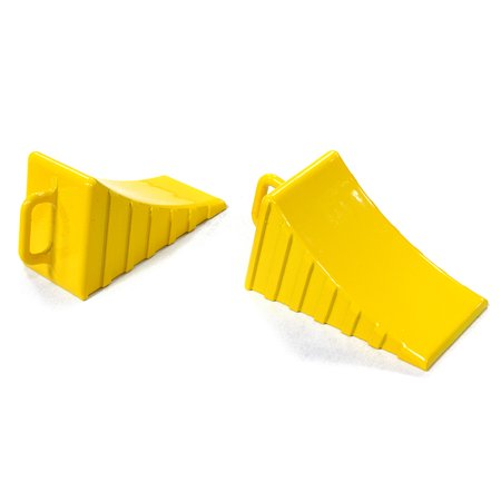 Integy RC Toy Model Hop-ups C26408YELLOW Realistic Scale Model Wheel Chock (2) 1/10 Size ()