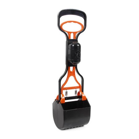 Pet Life PS2ORBK Squeeze N Scoop Lightweight Pooper Scooper with Waste Bag Holder, Black & Orange - One Size - image 1 de 1