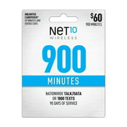 Net10 $60 900 Minutes Prepaid 90 days Plan (Email Delivery)