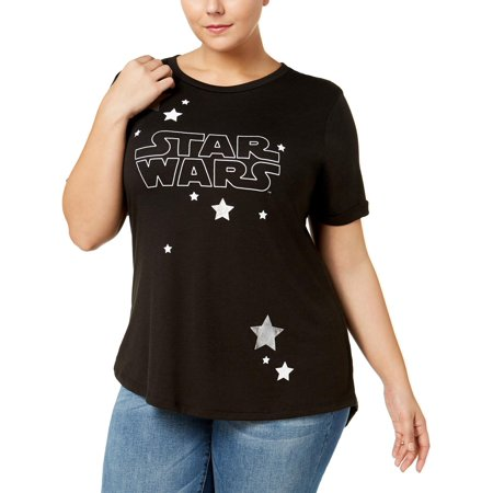 Star Wars Womens Metallic Star Graphic T-Shirt