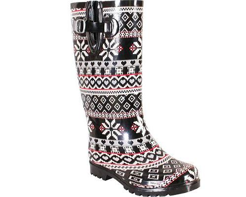 Nomad Black Snow Heart Rain Boot by Nomad