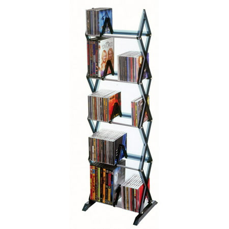 "Atlantic 40"" Mitsu 5-Tier Media Storage Rack, Smoke"