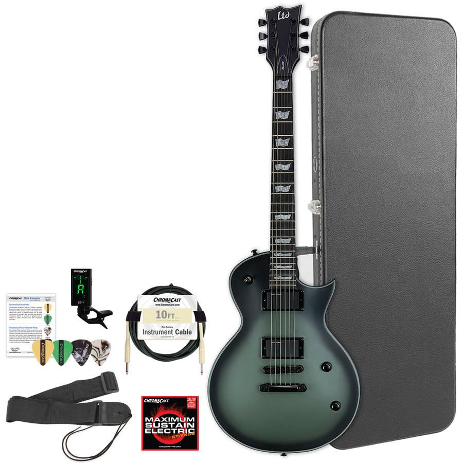 ESP LTD BK600 Bill Kelliher Signature Military Green Sunburst Satin Electric Guitar with ChromaCast Hard Case... by