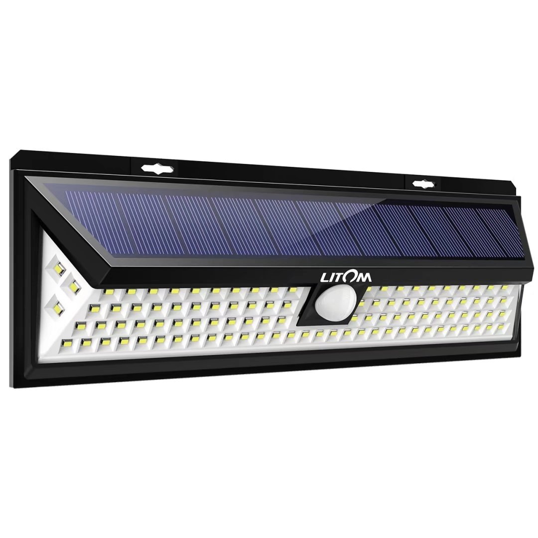 Litom 102 LED Motion Sensor Solar Light, Bright Wall Light, Large Solar Panel, 120� Sensing Angle, Weatherproof, Great Outdoor Light for... by