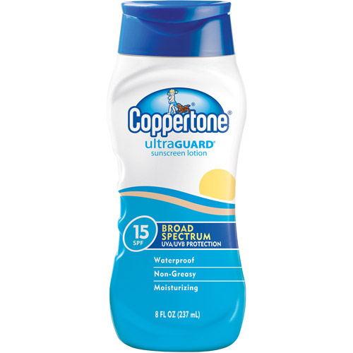 Coppertone Ultra Guard Sunscreen Lotion SPF 15, 8 fl oz