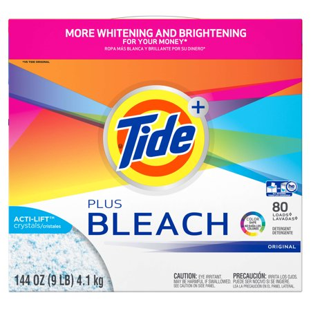 Tide With Bleach Alternative He Turbo Powder Laundry Detergent  Original Scent  80 Loads  144 Oz
