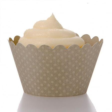 Dress My Cupcake Standard Gray Cupcake Wrappers, Set of 12 (Cheap Cupcake Dresses)