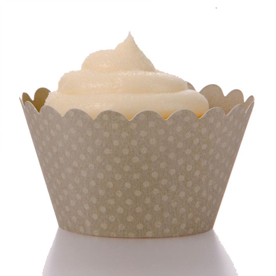 Dress My Cupcake Standard Gray Cupcake Wrappers, Set of 12