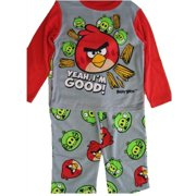 Little Boys Grey Red Character Printed 2 Pc Pajama Set 4-6