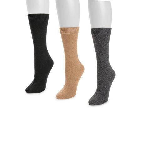 Muk Luk Boot Sock, 3pk