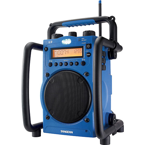 Sangean U-3 AM/FM Ultra Rugged Digital Tuning Radio Receiver, Blue