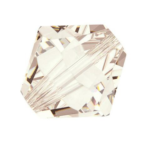 Swarovski Silk - Swarovski Crystal, #5328 Bicone Beads 6mm, 20 Pieces, Light Silk