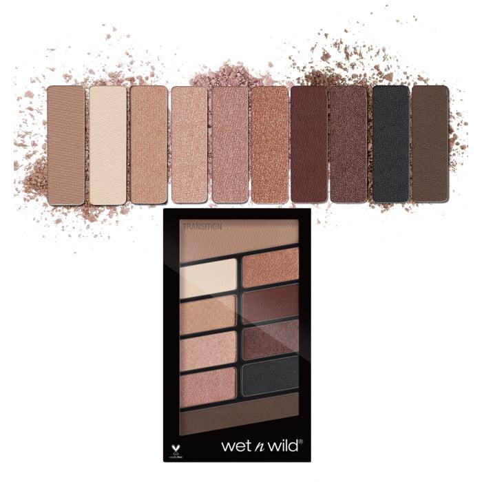 (6 Pack) WET N WILD Color Icon Eyeshadow 10 Pan Palette - Nude Awakening