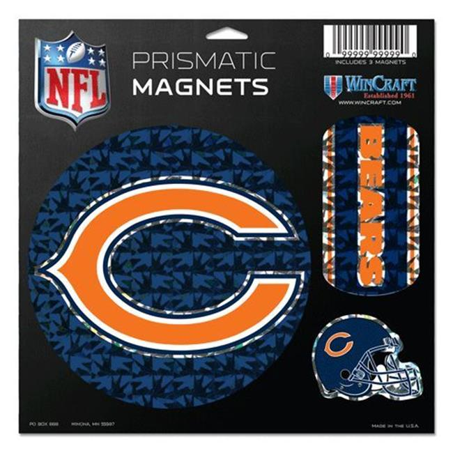 Chicago Bears Magnets - 11''x11'' Prismatic Sheet