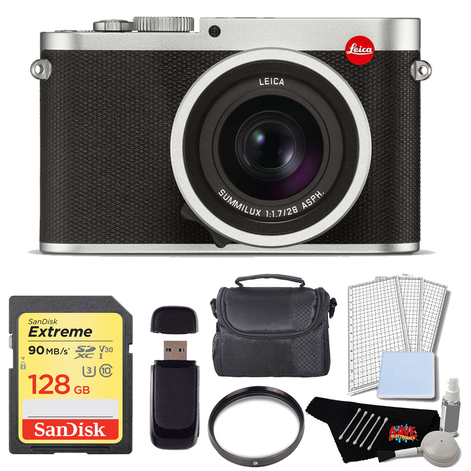 Leica Q (Typ 116) Digital Camera Pro Kit (Silver Anodized) by Leica