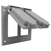 Hubbell Electrical 2C-2G Double Gang Flip Cover, Gray