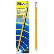 (2 Pack) Dixon Oriole Pre-Sharpened Woodcase Pencils, #2 HB, 12-Count