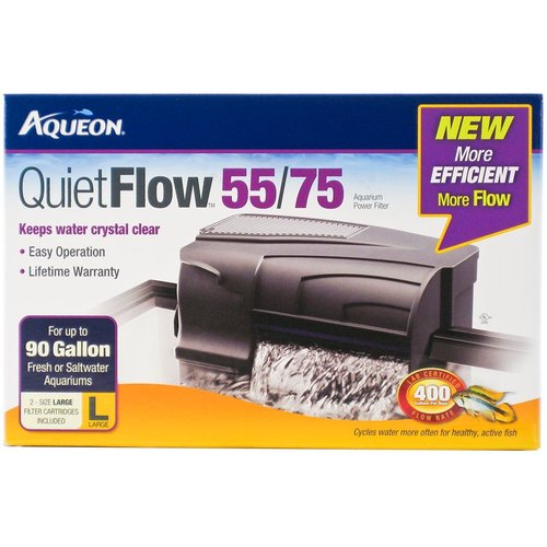 Aqueon QuietFlow Power Filter QuietFlow 55/75 - 400 GPH -...
