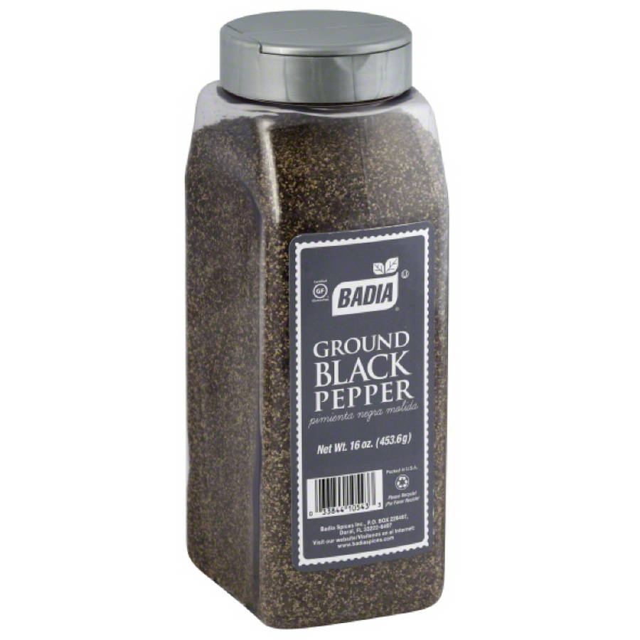 Badia Ground Black Pepper, 16 oz, (Pack of 6)