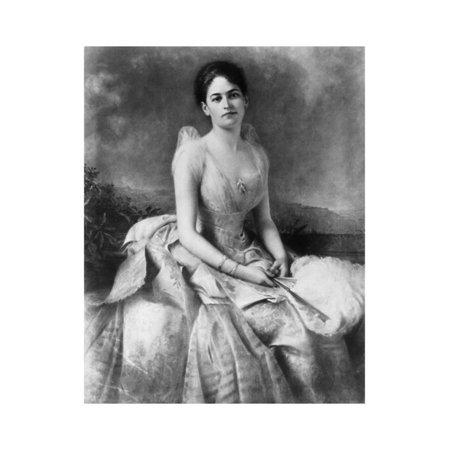 Portrait of Juliette Gordon Low Print Wall Art](Low Poly Portrait)