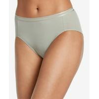 Jockey Allure Solid Color Luxuriously Soft Cotton String Hi Cut Panty Light Linen Green XL