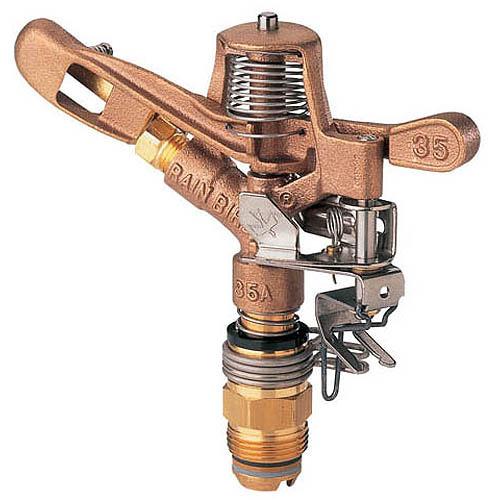 Rainbird 35ADJTNTB 3 4 in Brass Impact Sprinkler by RAINBIRD