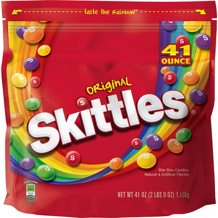 (2 Pack) Skittles Original Fruity Candy, Party Size Oz, 41 Oz for $<!---->