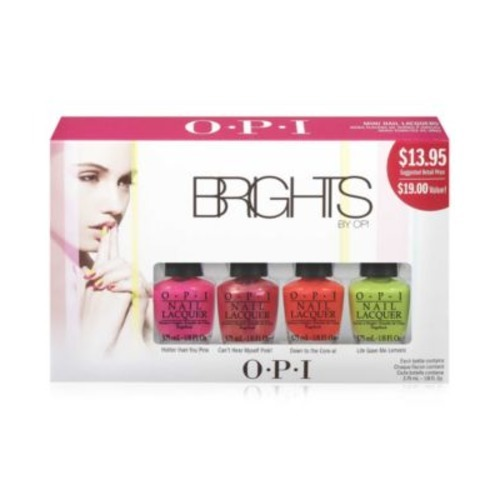 OPI 4 Piece Mini Nail Lacquer Polish Set, Brights