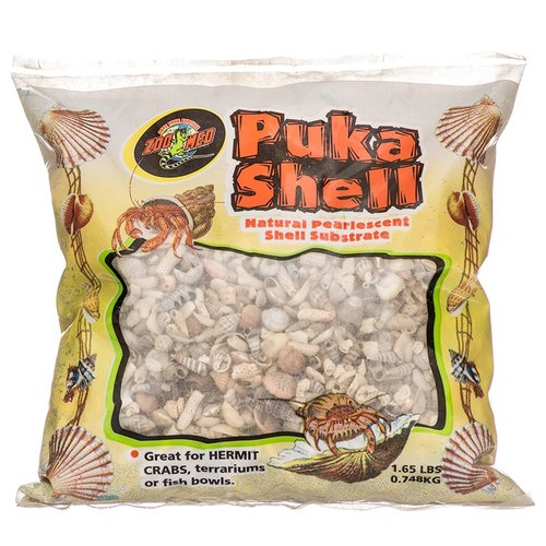 Zoo Med Puka Shell Natural Pearlescent Substrate for Hermit Crabs 2 lbs