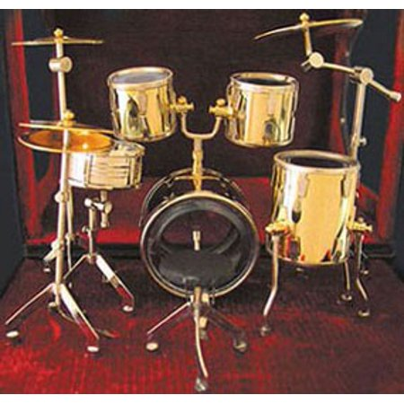 Dollhouse 6.5 Inch H Drum Set 1 Inch Scale