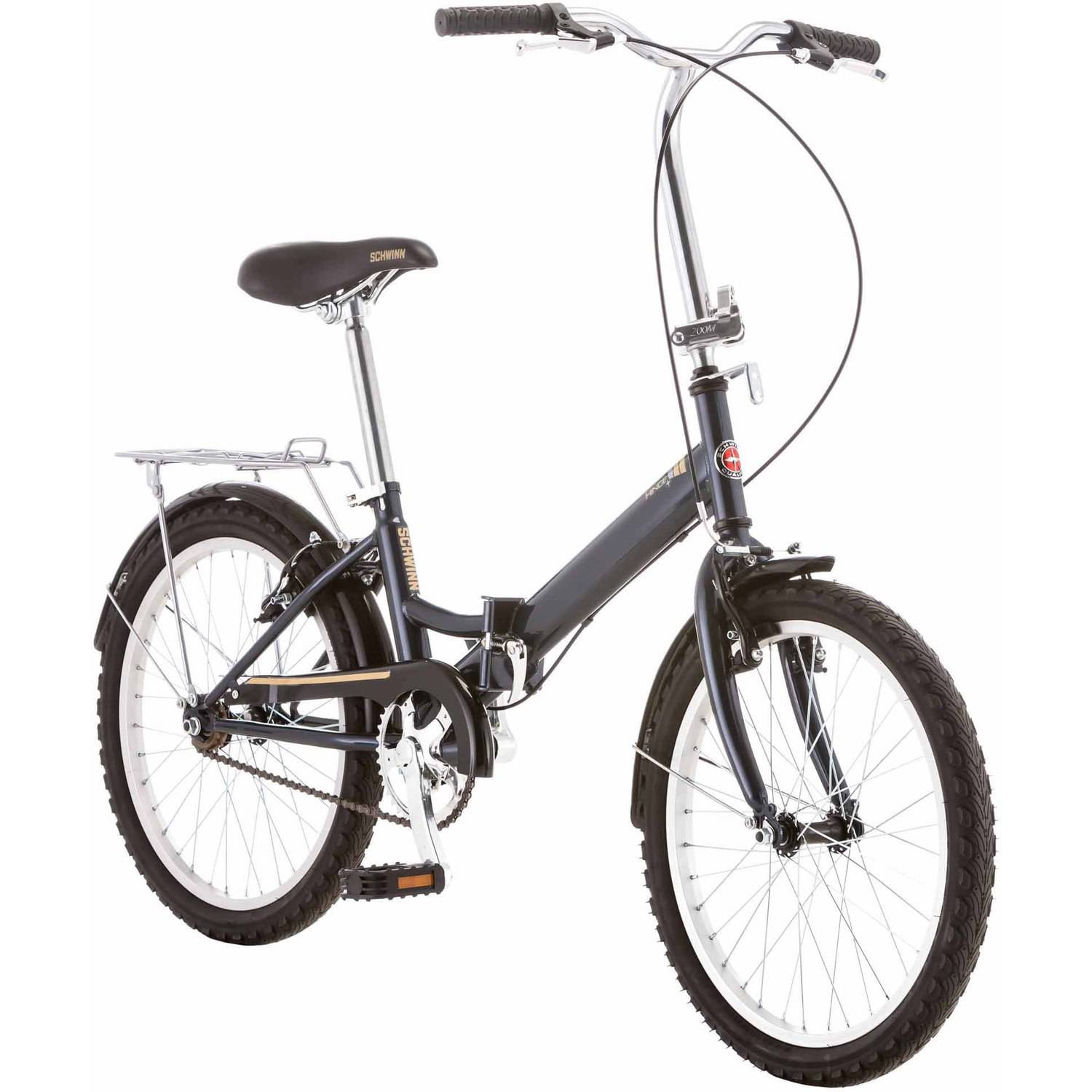 "20"" Schwinn Hinge Unisex Folding Bike, Gray"