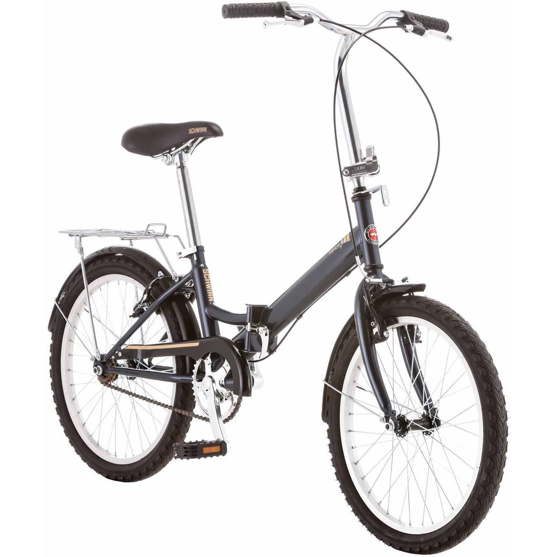 "20"" Schwinn Hinge Unisex Folding Bike, Gray"