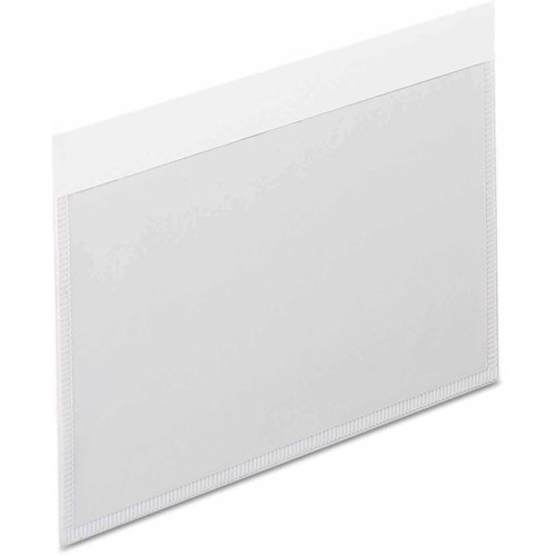 Esselte Pendaflex Self-Adhesive Vinyl Pockets, Clear Front/White Backing, 100-Pack