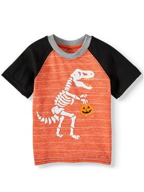 Halloween Toddler Boy Short Sleeve Raglan Graphic T-Shirt