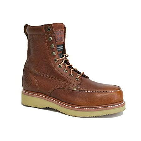 8 Inch Steel Toe Wedge Brown
