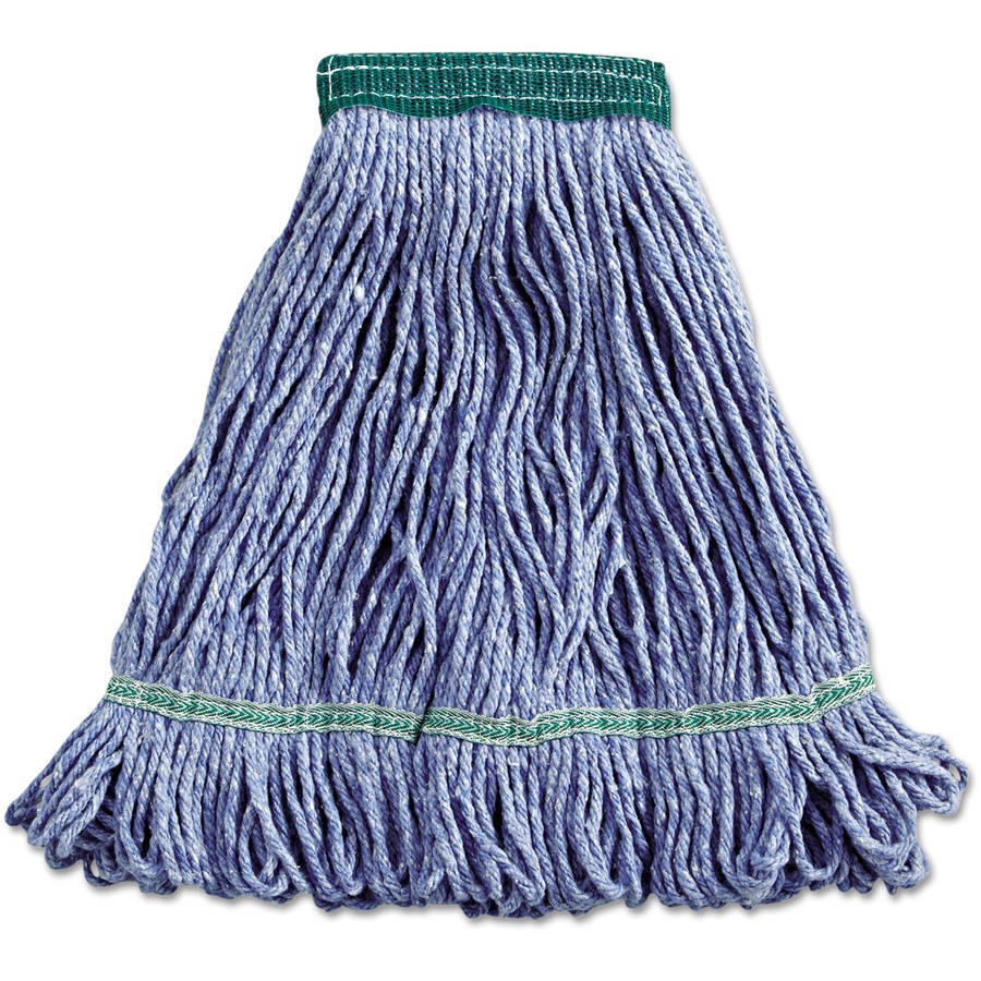 Boardwalk Blue Medium Cotton Synthetic Super Loop Wet Mop Head by UNISAN